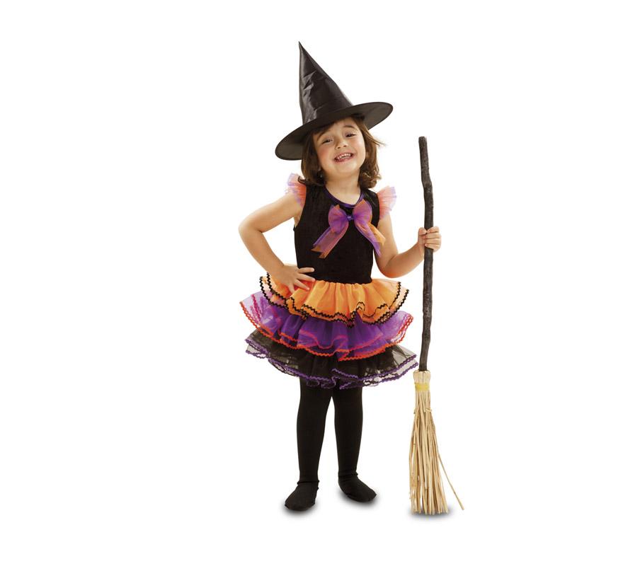 Disfraz De Bruja Fantasia Para Bebe Y Ninas Para Halloween - Disfraz-de-bruja-para-bebe