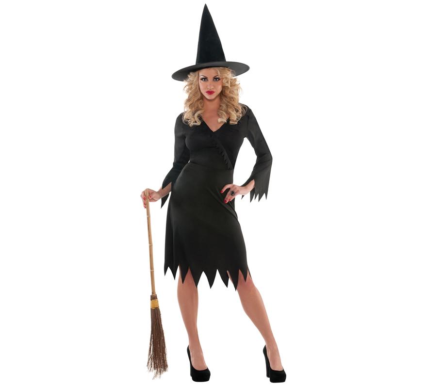 Disfraz de Bruja y Diablo para Adultos, Hombre y Mujer