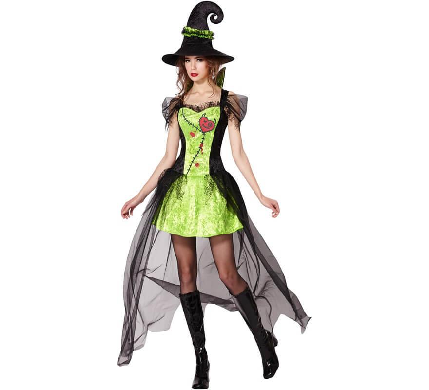Disfraz de Bruja Verde para mujer bee4054398b