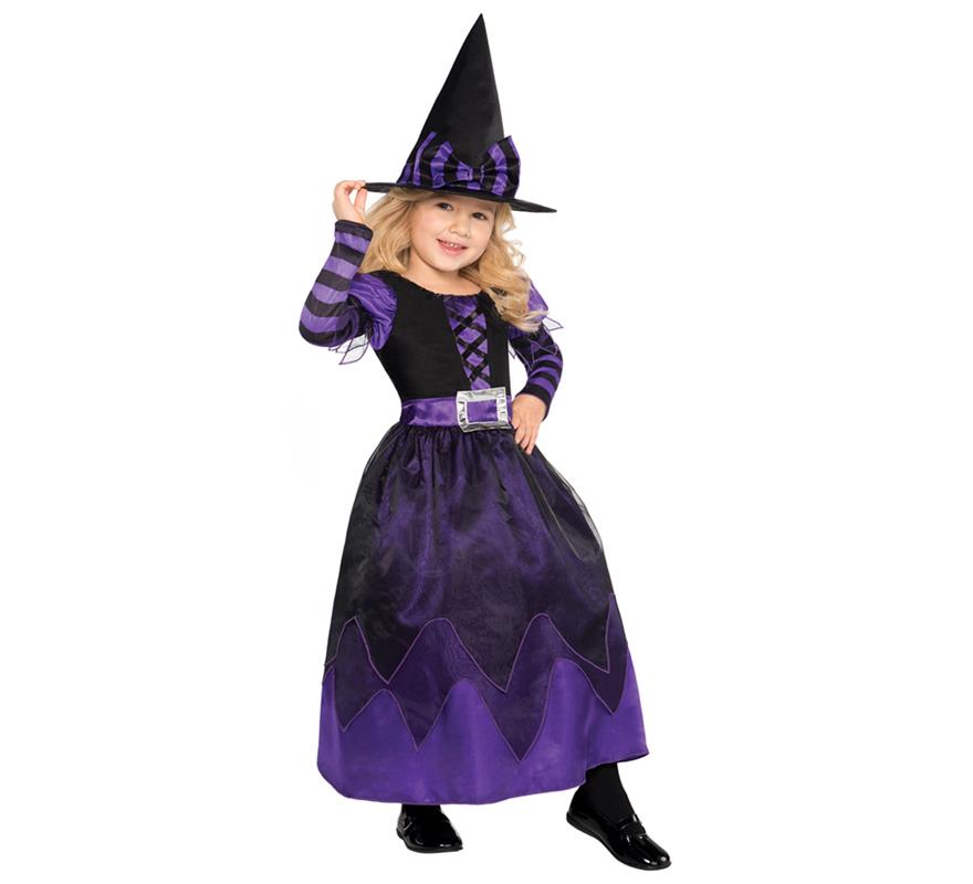 disfraz de brujita morada para nias para halloween