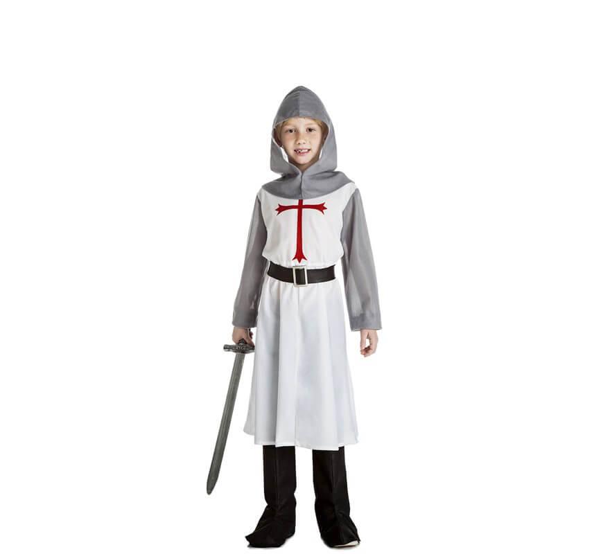 596ef776d Disfraz de Caballero Medieval Blanco para niño