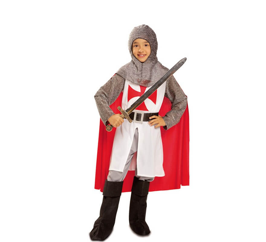 b82eb0f43 Disfraz de Caballero medieval Templario para niño