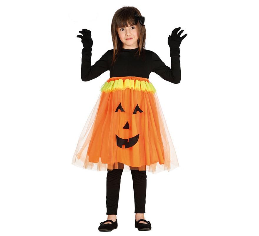 Disfraz de calabaza con tut para ni a - Disfraces halloween calabaza para ninos ...