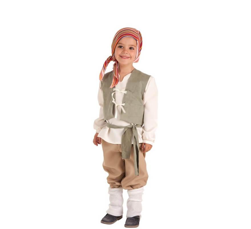 2e61e877f6 Disfraz de Campesino Medieval Carlos para niño