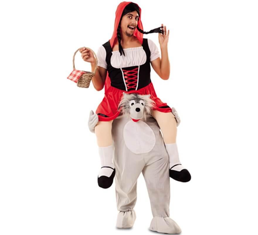 Disfraces Para Halloween De Caperucita Roja.Disfraz De Caperucita Roja A Hombros De Lobo Para Adultos
