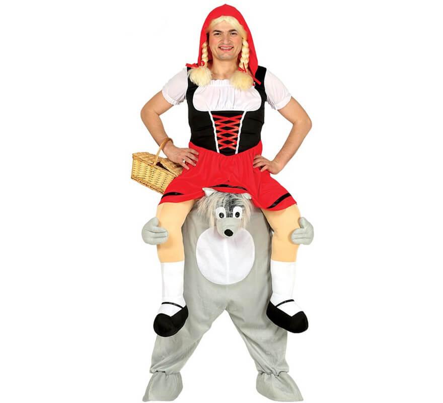 Caperucita Roja Halloween.Disfraz De Caperucita Roja A Hombros De Lobo Para Adultos