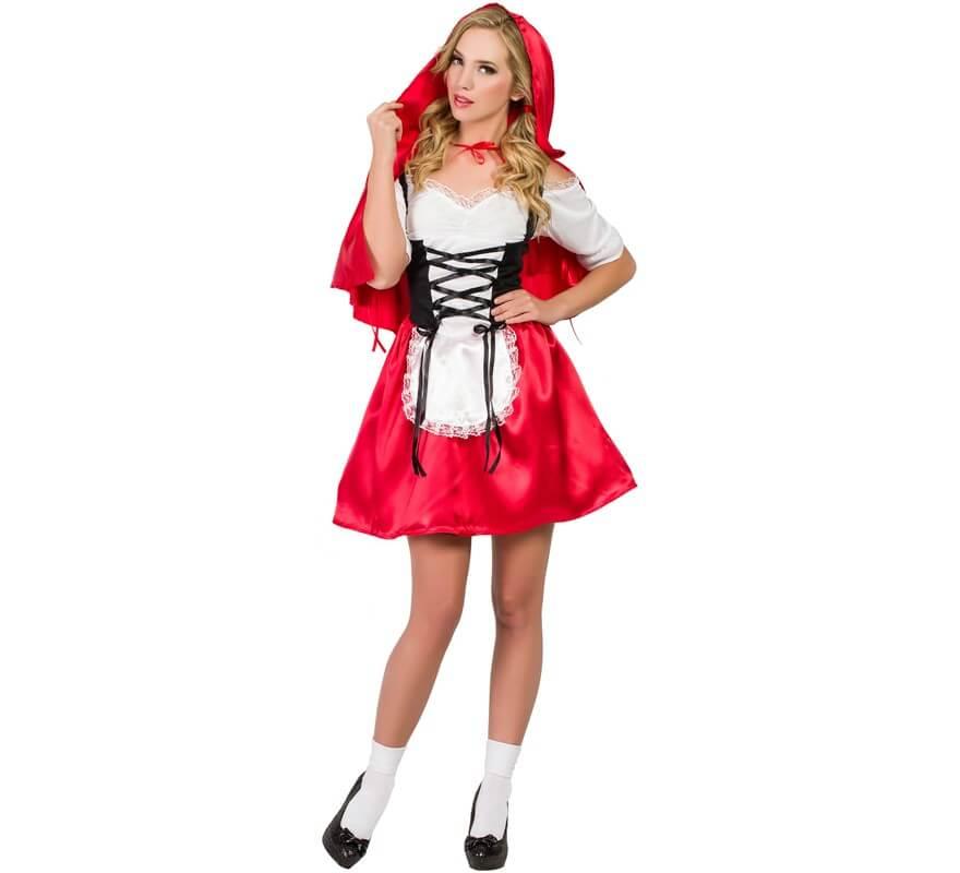 Disfraces Para Halloween De Caperucita Roja.Disfraz De Caperucita Roja Con Corset Para Mujer