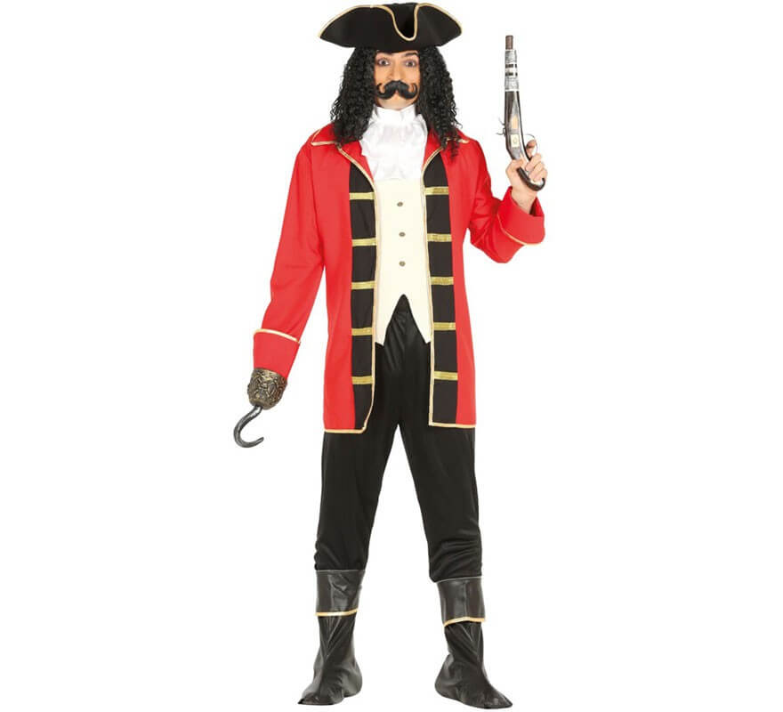 Homme Pirate Caraïbe Costume et perroquet capitaine Fancy Dress Costume Outfit