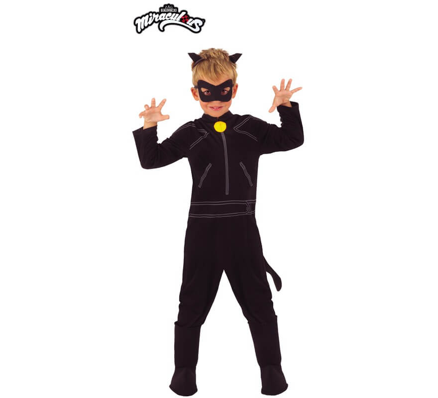 Disfraz De Cat Noir Clásico De Miraculous Ladybug Para Niño