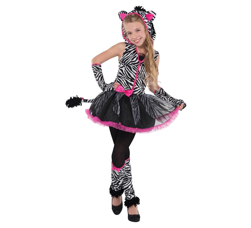 Disfraz cebra encantadora para ni as y adolescentes for Disfraz de cebra
