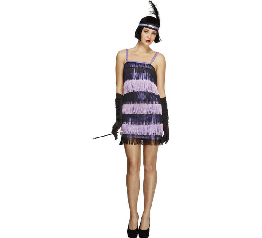 Disfraz De Charlestón Púrpura Para Mujer