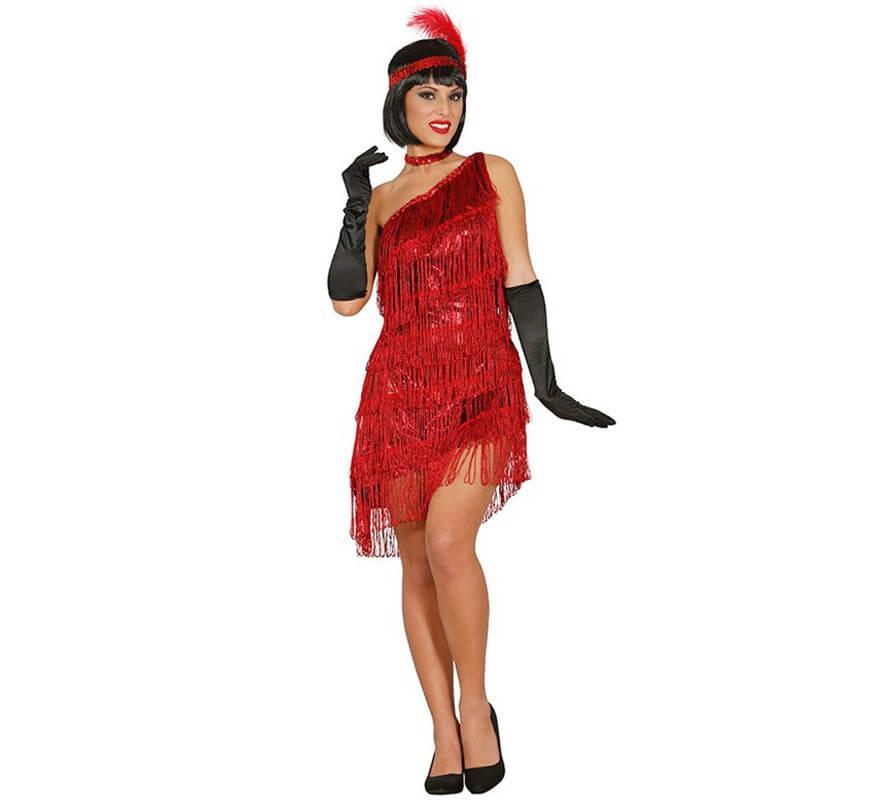 disfraz de charlest n rojo para mujer. Black Bedroom Furniture Sets. Home Design Ideas