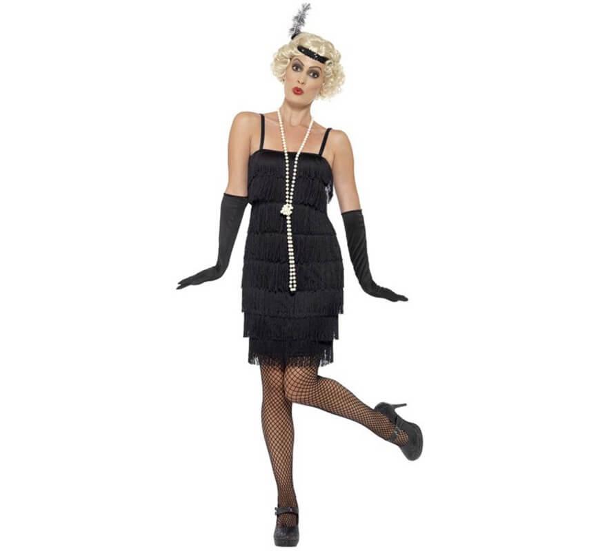 Disfraz de Chica de los Años 20 negro para mujer 5e4bdb14c41e