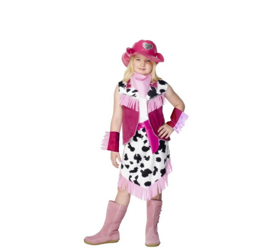 Disfraz de Chica de Rodeo Rosado para niña 3876197704a