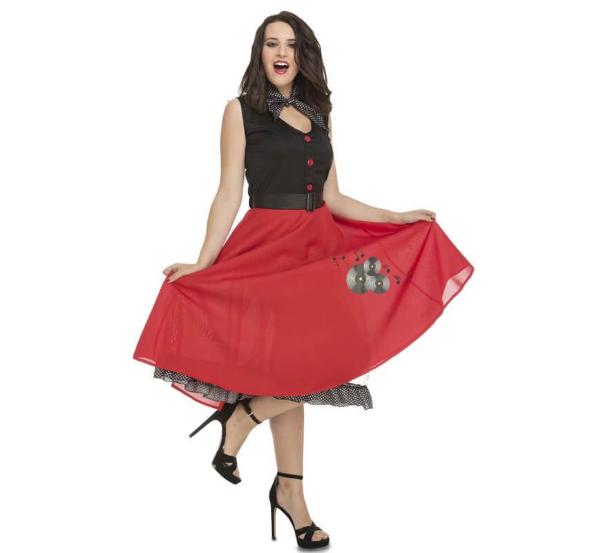 b7a44e675de8 Disfraz de Chica Ye-Ye años 50-60 para mujer
