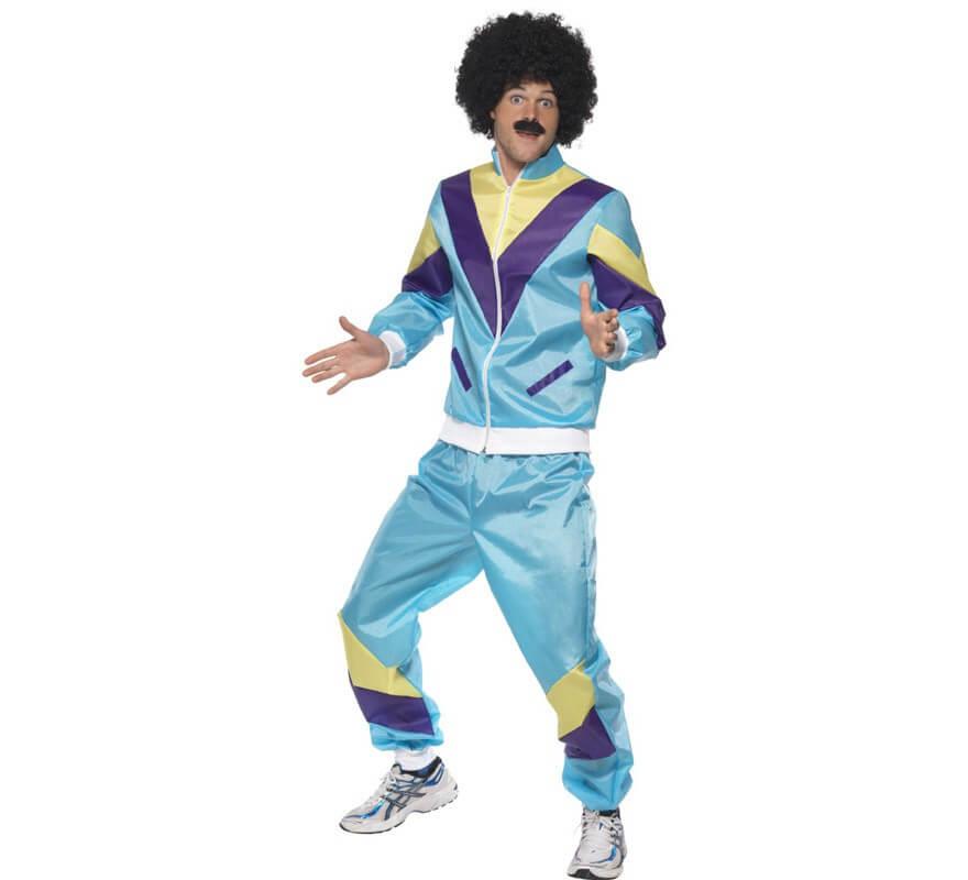 Disfraz de Chico Chandal Azul de los 80 para Hombre acd97d2ea255