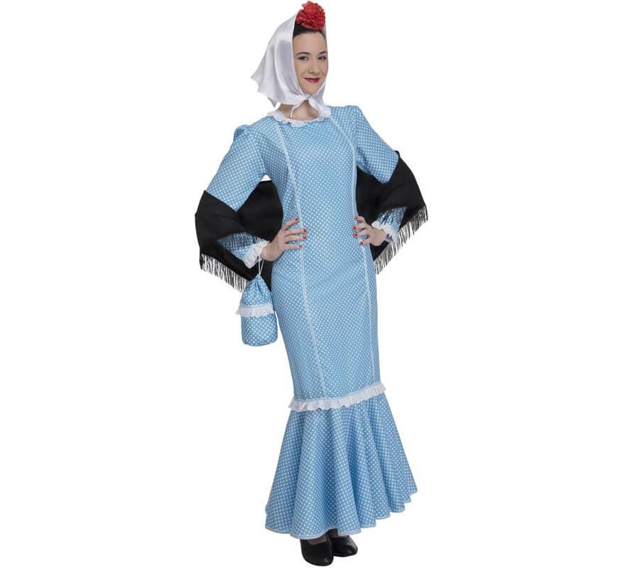 bbac2b5f1 Disfraz de Chulapa Azul para mujer