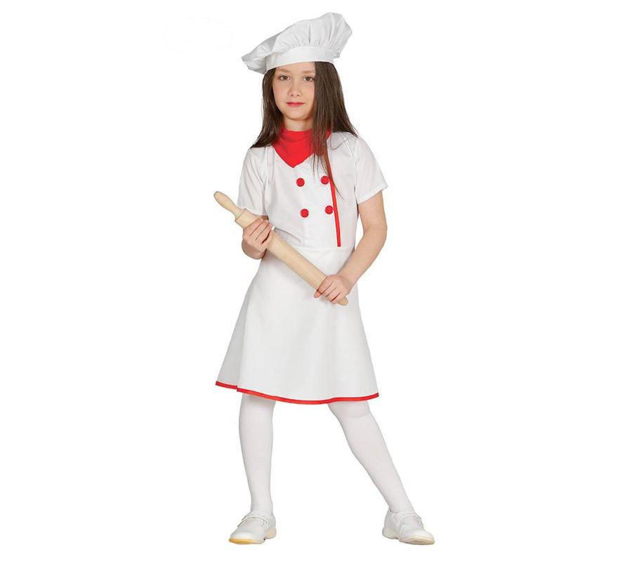 Disfraz de cocinera chef para ni a - Nina cocinando ...