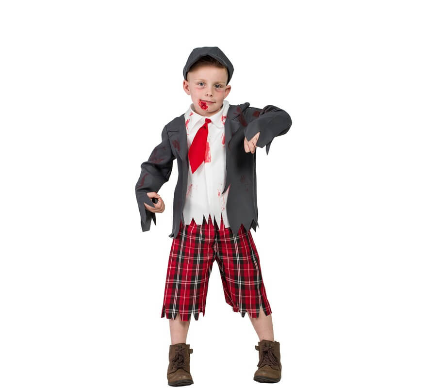 foto de Disfraz de Colegial zombie para niño
