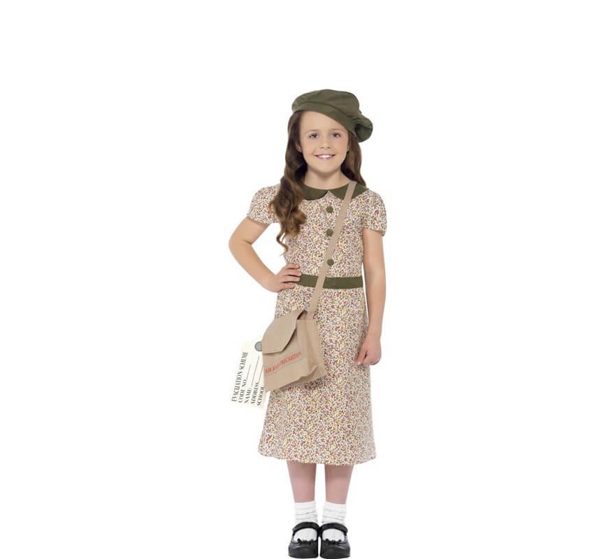 f7877a1c3 Disfraz de Colegiala Victoriana con Estampado para niña