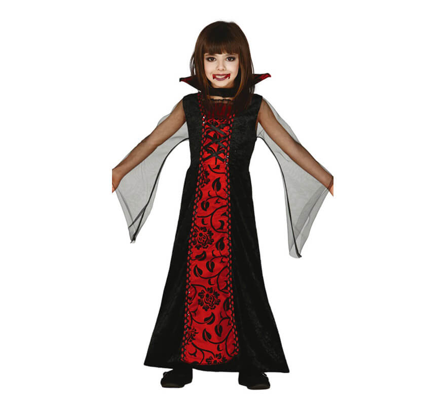 D guisement de comtesse vampire pour filles - Maquillage de vampire pour fille ...