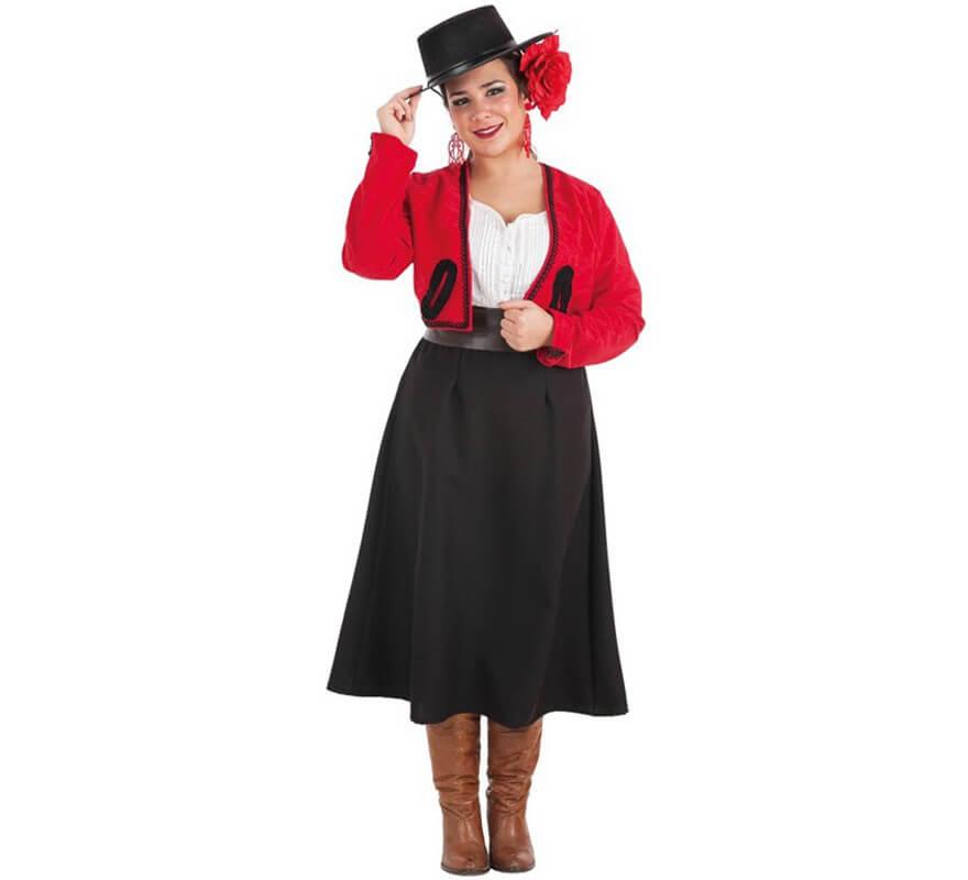 mujer abril de feria faldas trajes Tw51x
