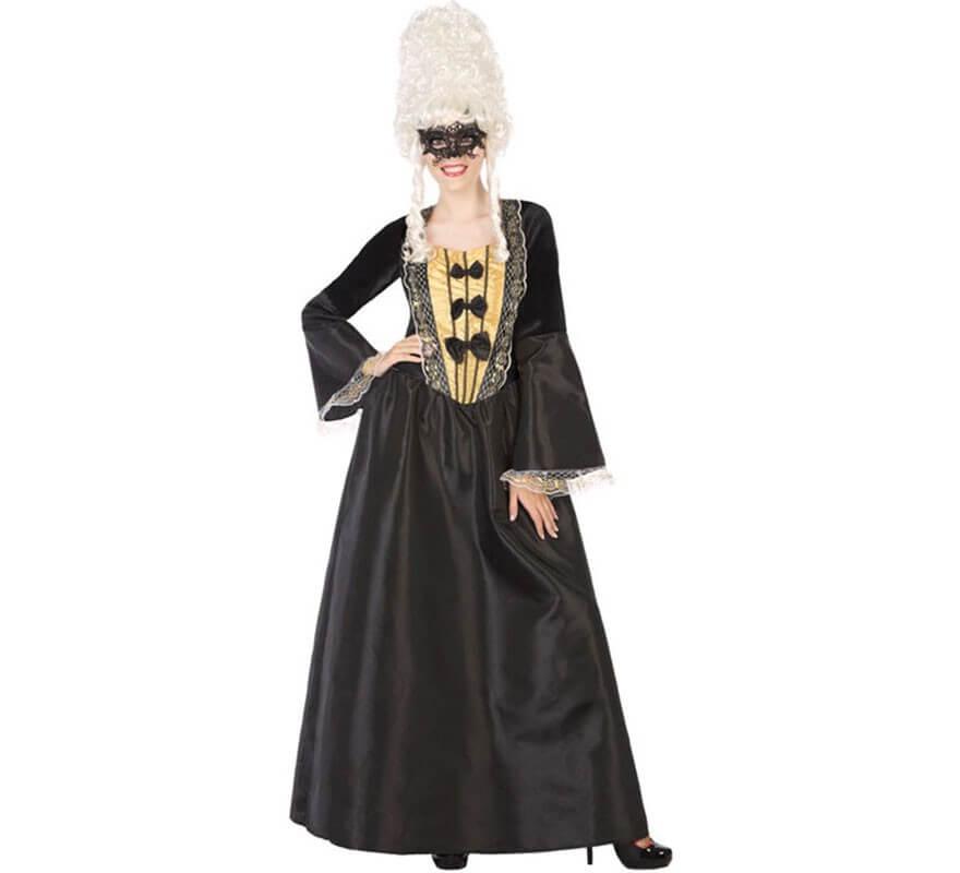 442262664 Disfraz de Cortesana Negra para mujer