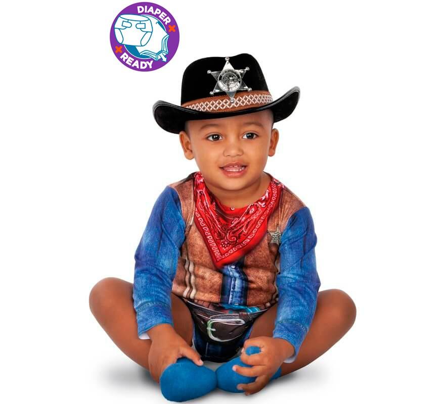 Generique Costume Cowboy Neonato 0 A 6 Mesi