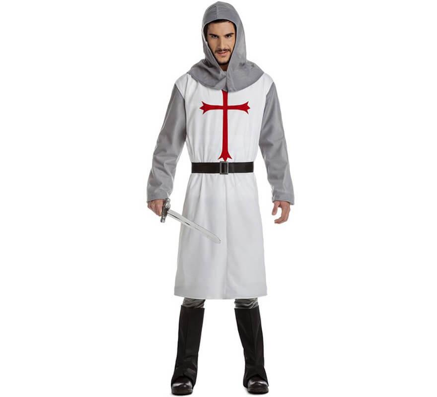 Disfraz de Cruzado Blanco para hombre