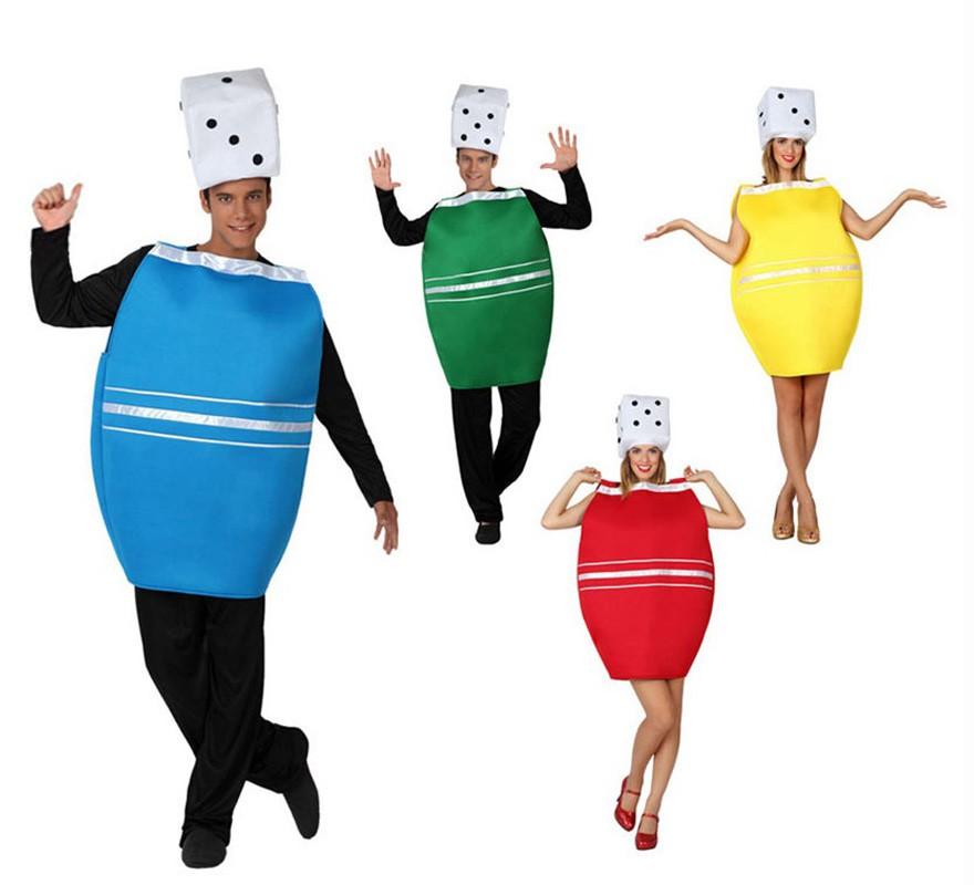 Disfraz de Cubilete del Parchís para adultos 4 colores