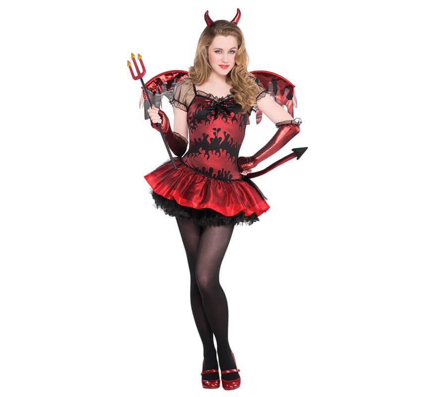 Disfraz De Diablesa Para Ninas Y Adolescentes Halloween - Trajes-de-hallowen