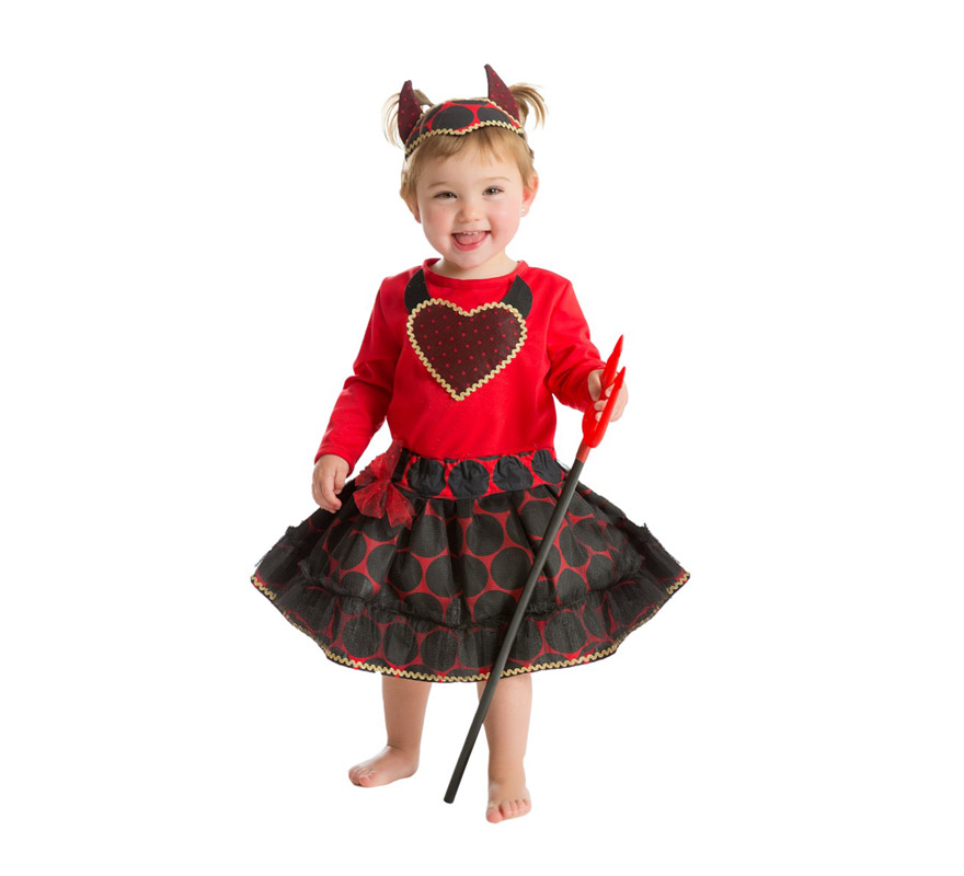 disfraz de diablilla rojo para beb s de 18 meses para halloween. Black Bedroom Furniture Sets. Home Design Ideas
