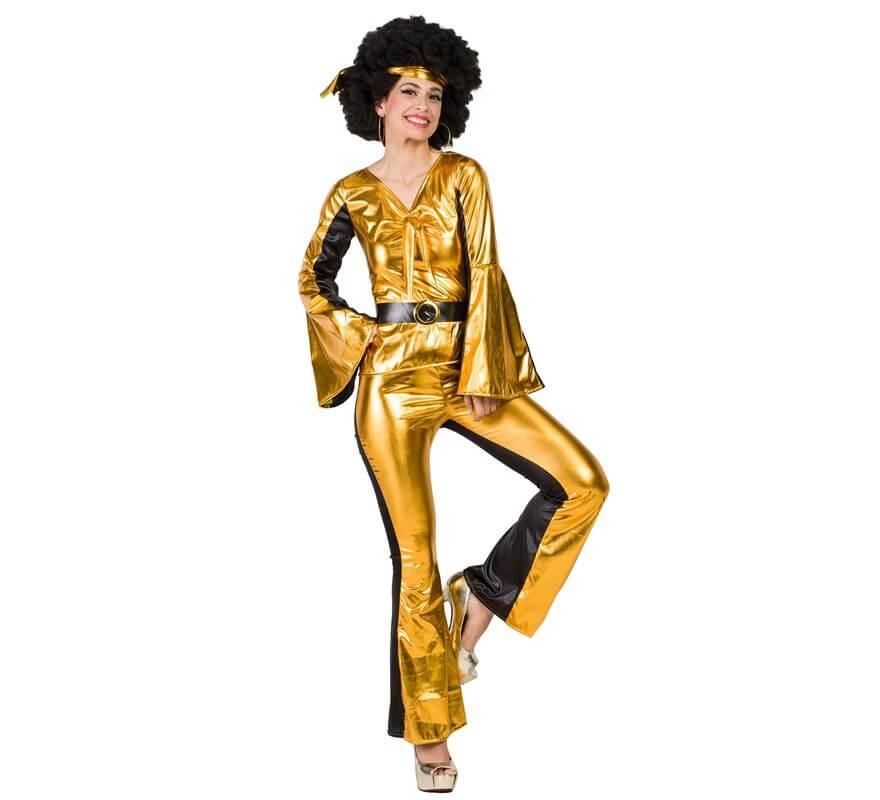 Disfraz de Disco Dorado para mujer