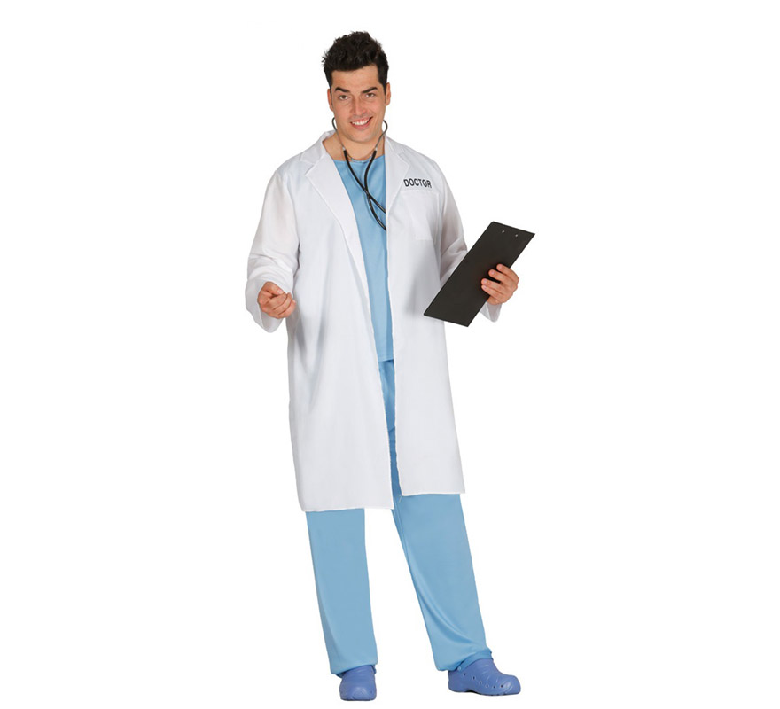 Disfraz de Doctor con bata para hombre 1eecd4bac61
