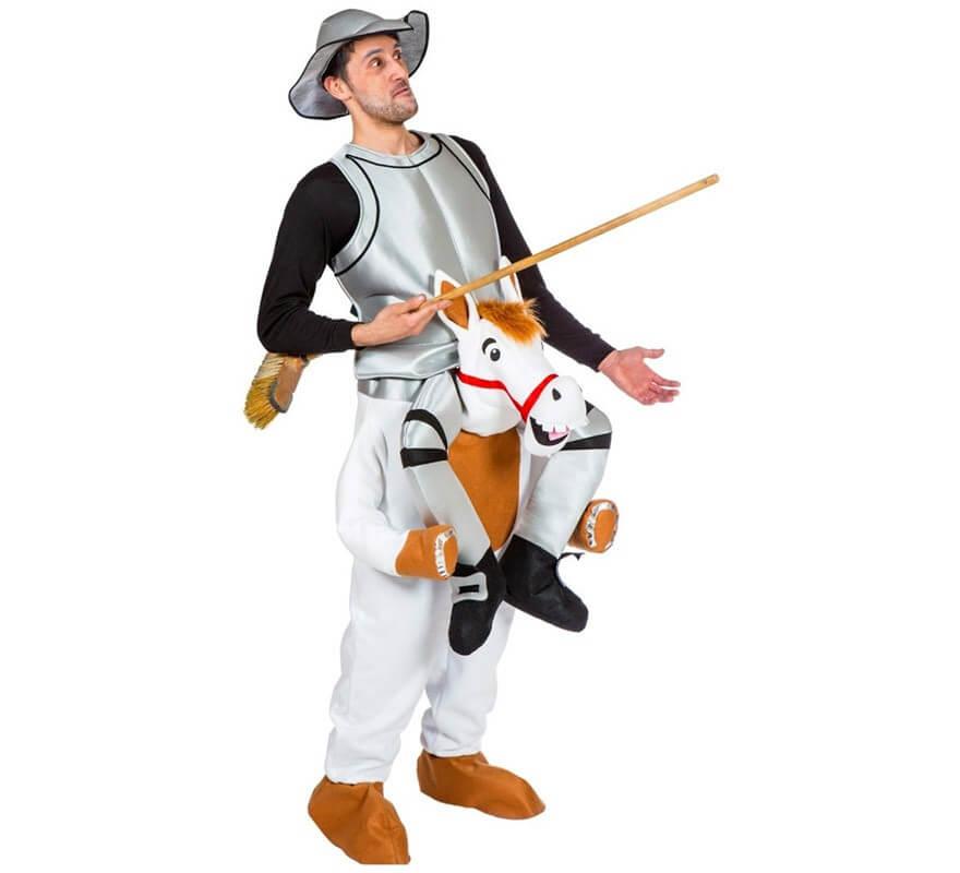 Disfraz de Don Quijote con Rocinante para adultos