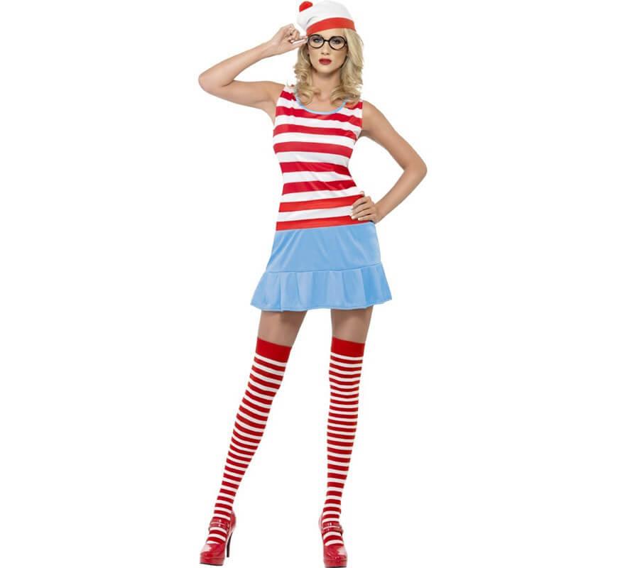 Wenda Costume Completo da giorno LIBRO Le ragazze per bambini Dov/'è Wally