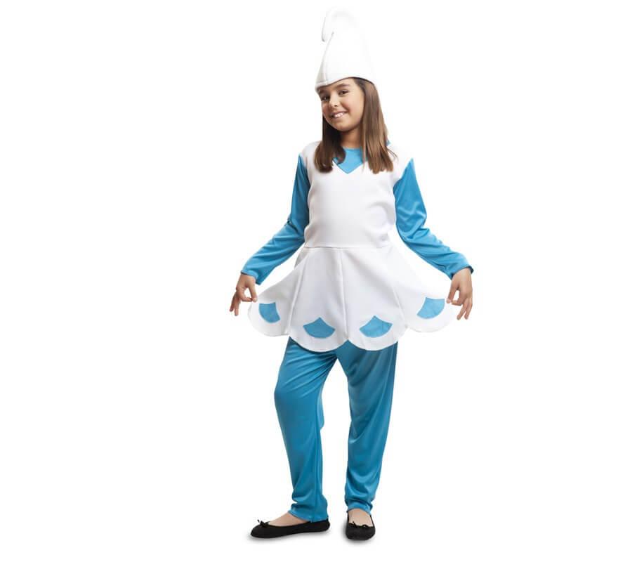 disfraz de duende azul para nia