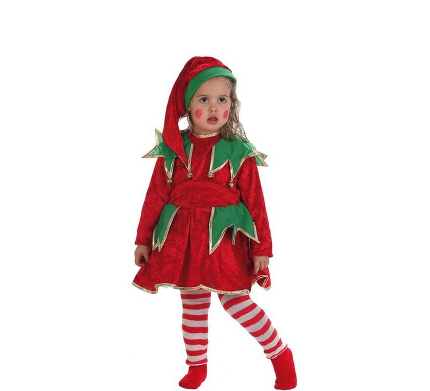 Disfraz de elfa ayudante de santa para ni a - Disfraz de santa claus para nino ...