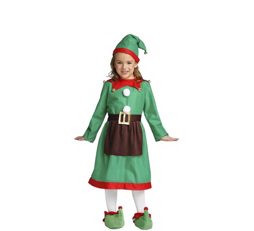 disfraz de elfa con delantal para nia y beb - Disfraz De Elfa