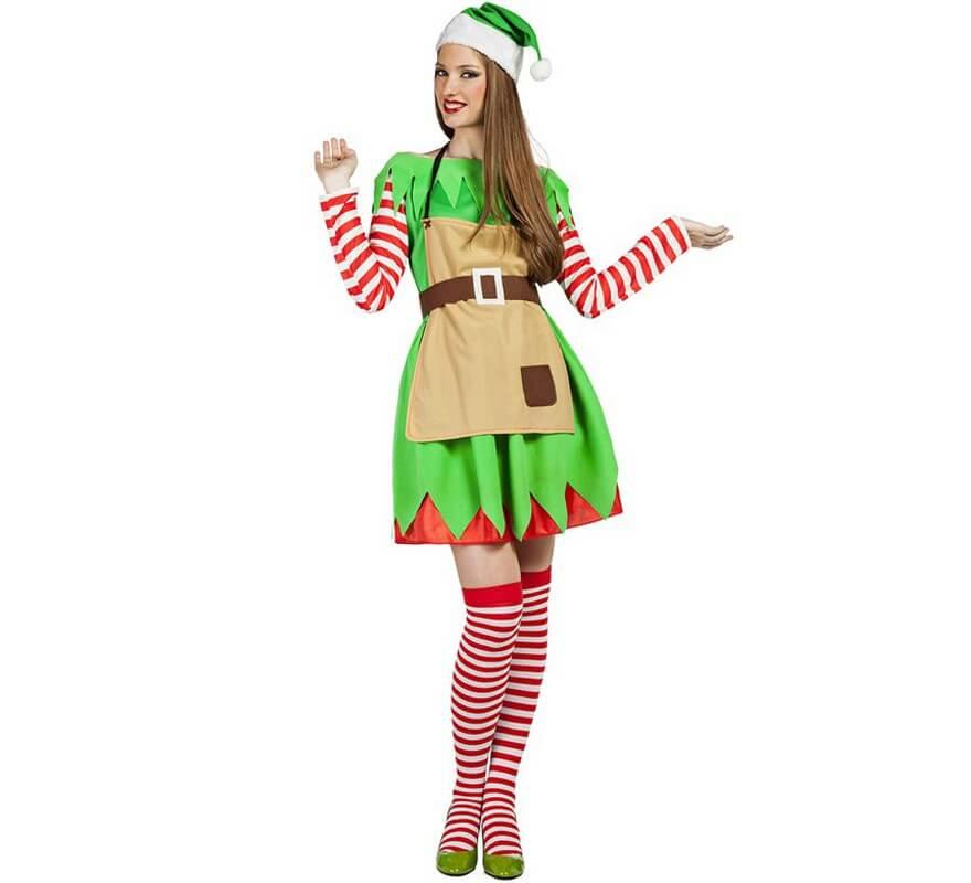Disfraz de elfa navidad para mujer - Disfraces para navidad ...