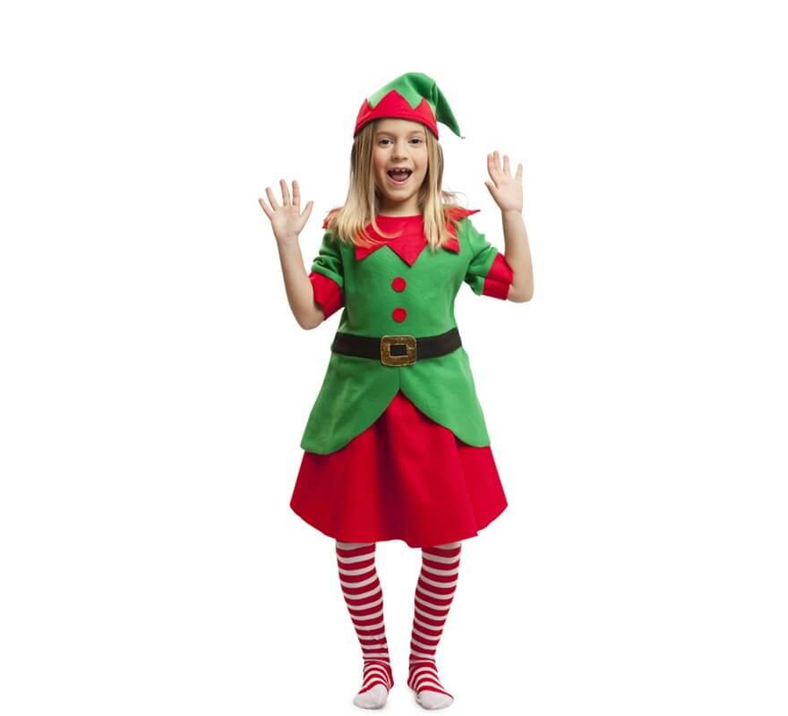 Disfraz de elfa navidad para ni a - Disfraz de navidad ...