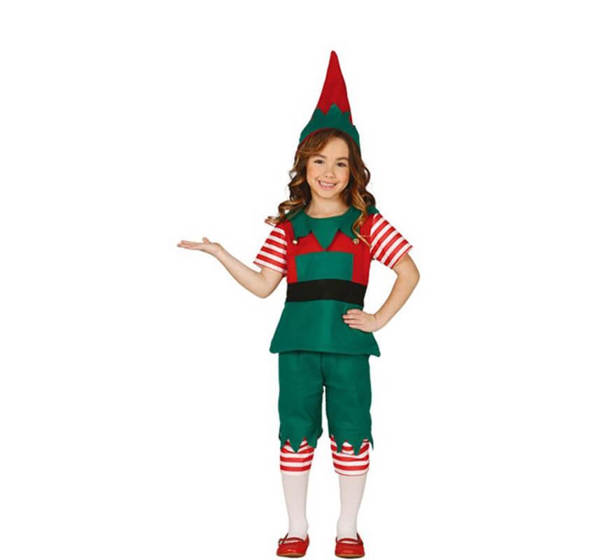 Disfraz de elfo verde y rojo para ni o - Disfraz elfo nino ...