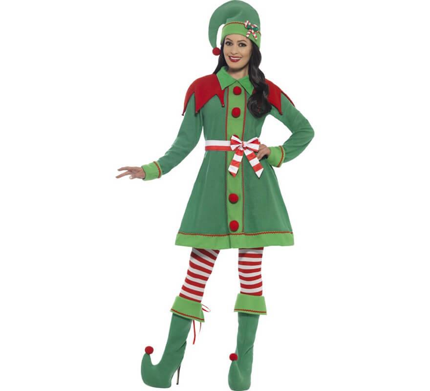 disfraz de elfa verde para mujer - Disfraz De Elfa