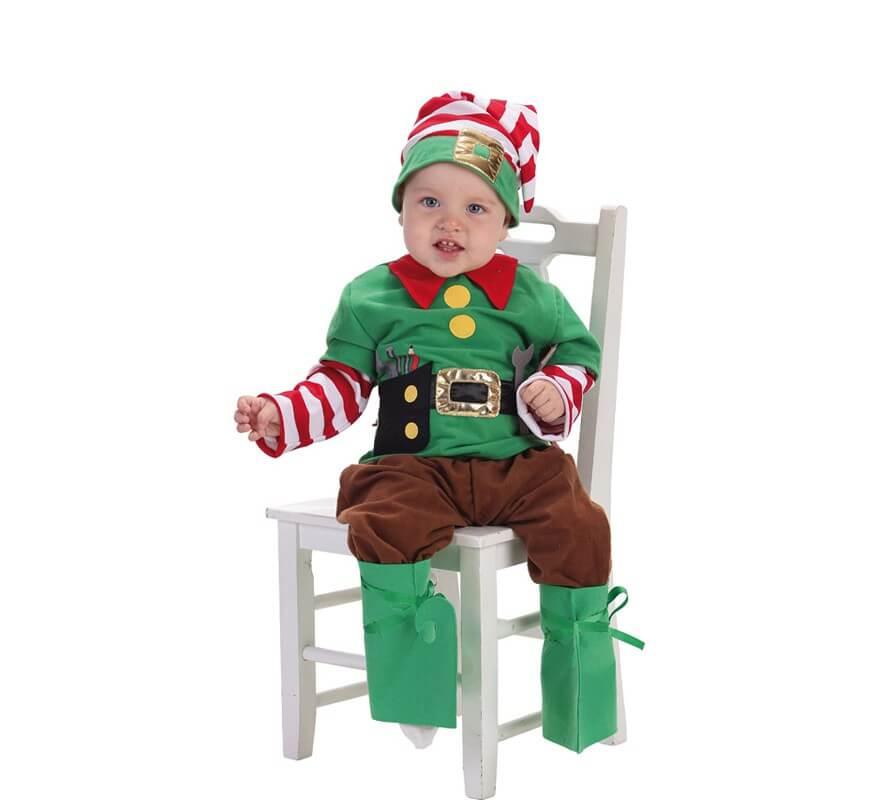 Disfraz de elfo ayudante de santa claus para beb - Disfraz de santa claus para nino ...