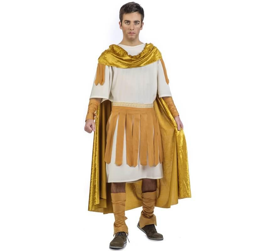 Disfraz De Emperador Hombre Romano Dorado Para sQrdCht