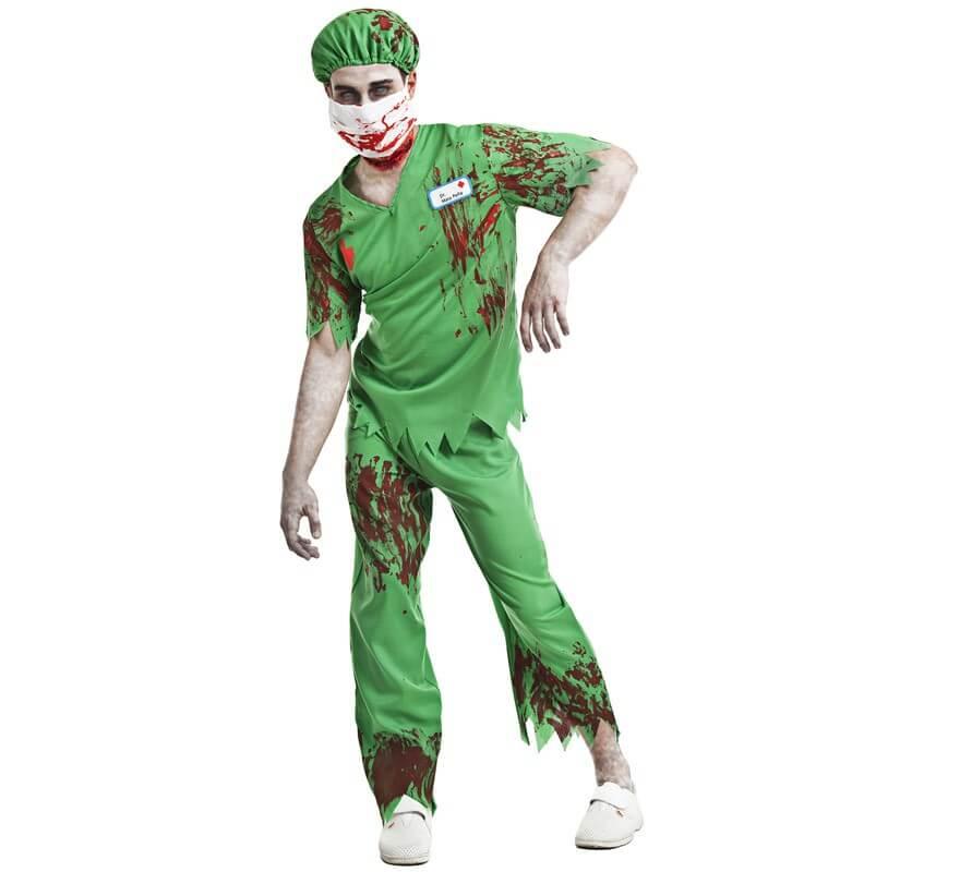 Giacca in Pelle Nera Adulti Zombie Killer Costume Bandana Da Uomo Costume