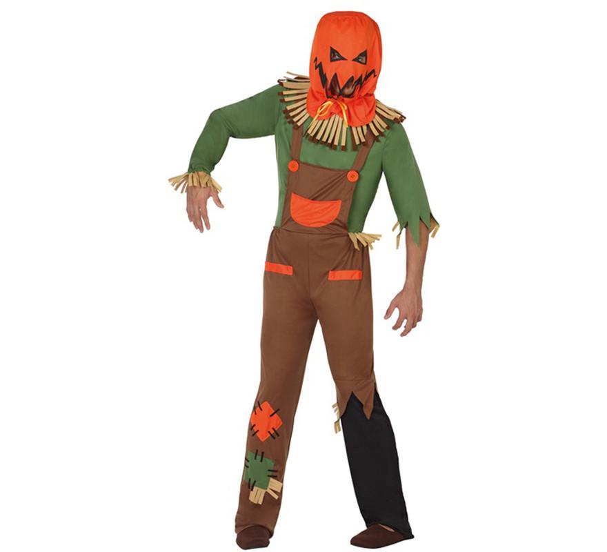Disfraz de Espantapjaros Calabaza para Halloween