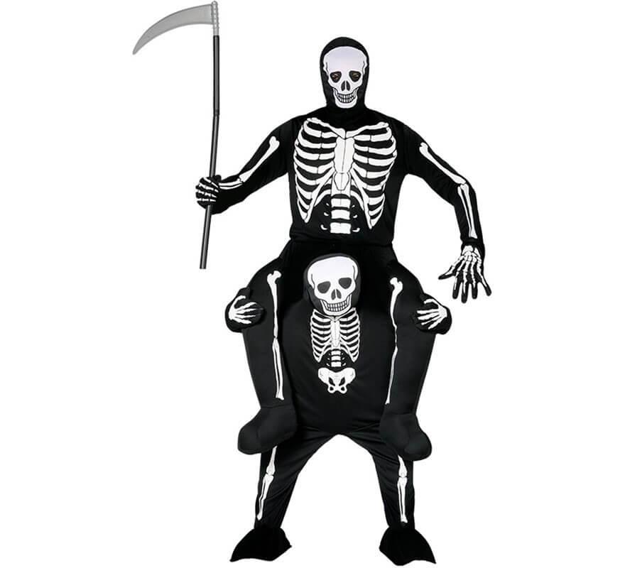 Disfraz de Esqueleto a Hombros de Esqueleto para adulto