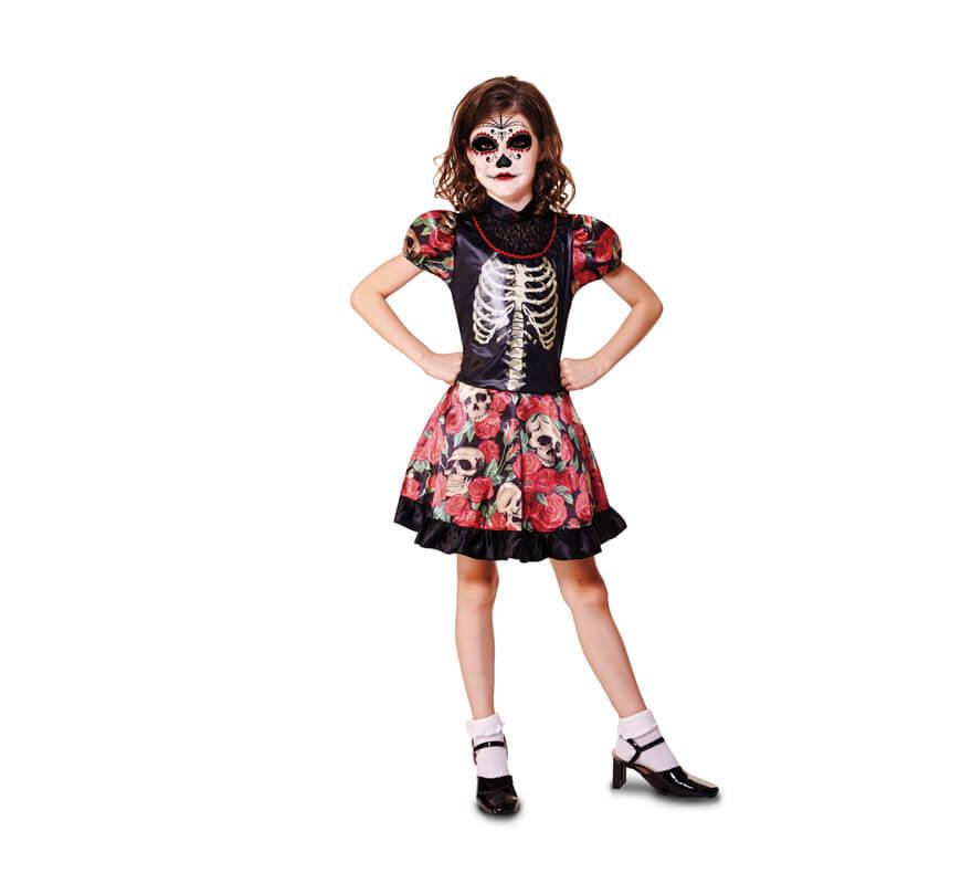 Disfraz De Niña Día De Los Muertos Para Niñas De Halloween