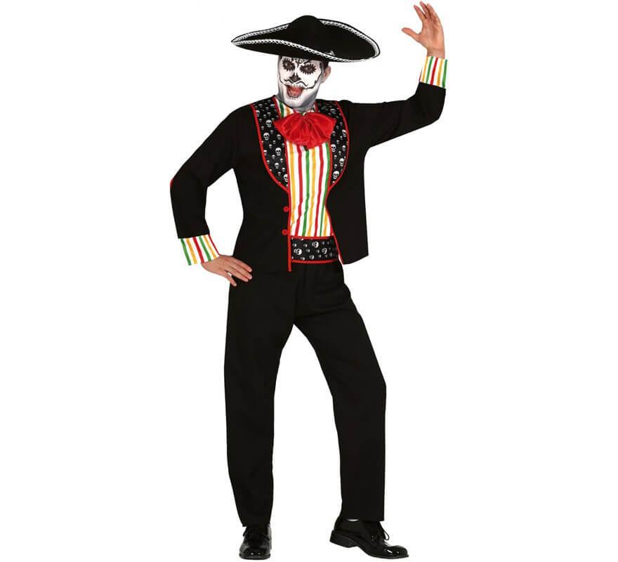 Disfraz De Esqueleto Del Día De Los Muertos Para Hombre